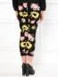 Трикотажные брюки из шерсти с цветочным узором Moschino Cheap&Chic  –  Модель Верх-Низ1