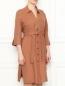 Платье из льна с рукавами 3/4 Marina Rinaldi  –  МодельВерхНиз