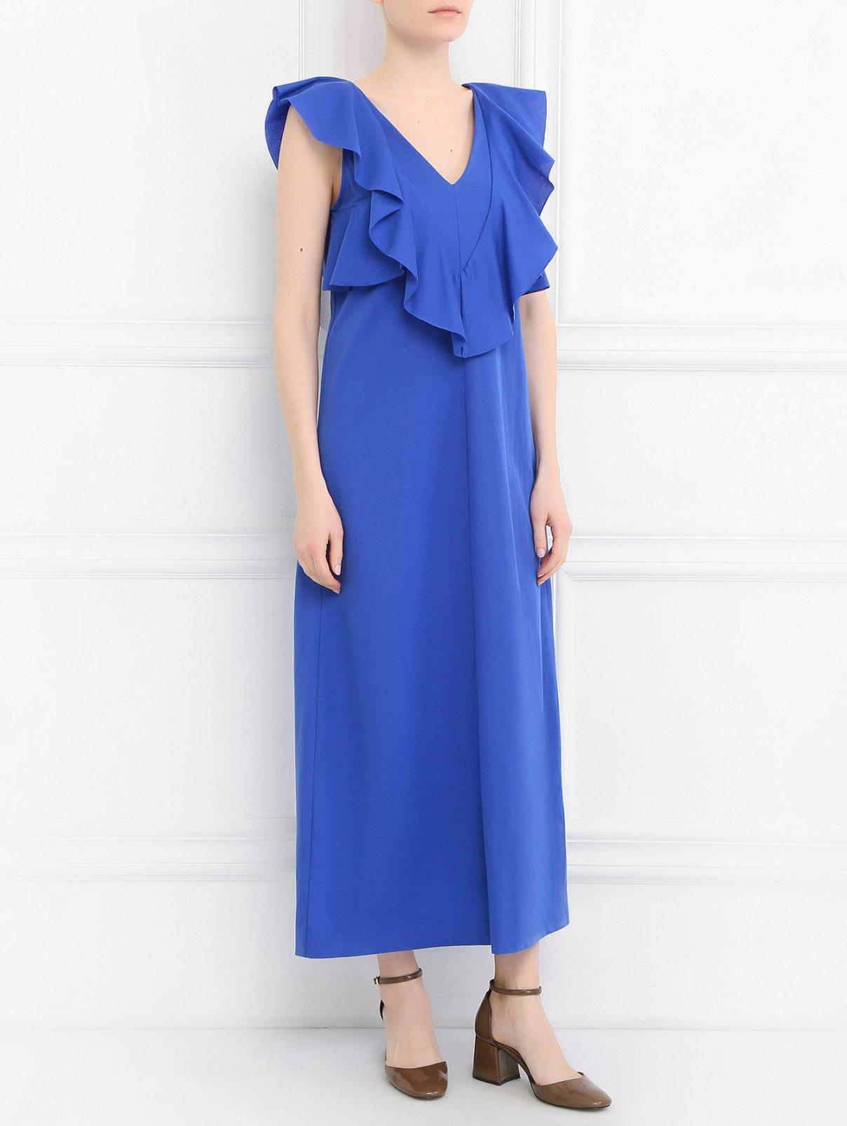 Платье свободного кроя с воланами Dorothee Schumacher  –  Модель Общий вид