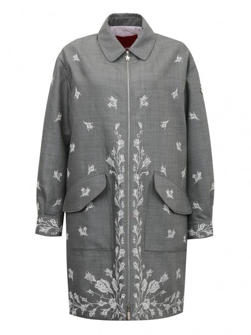 Пальто из шерсти с вышивкой - Общий вид