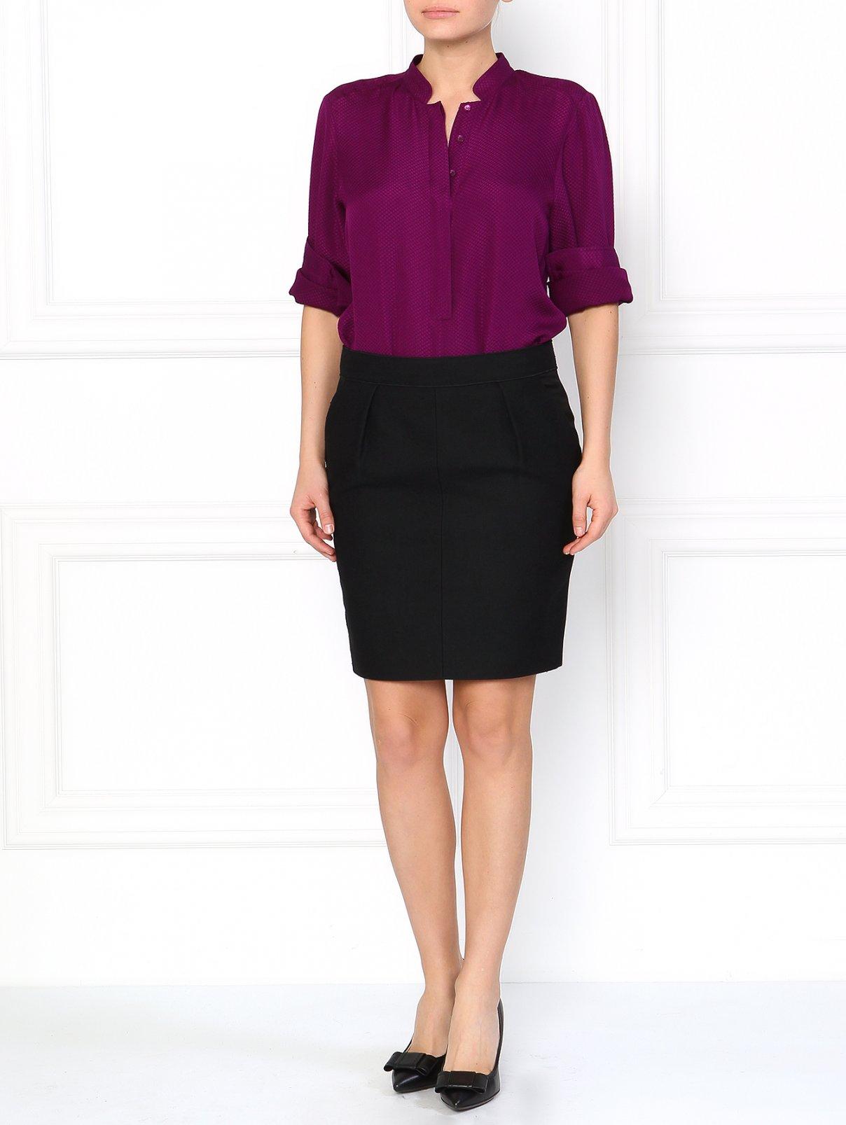 Укороченная юбка-карандаш с боковыми карманами ICEBERG  –  Модель Общий вид