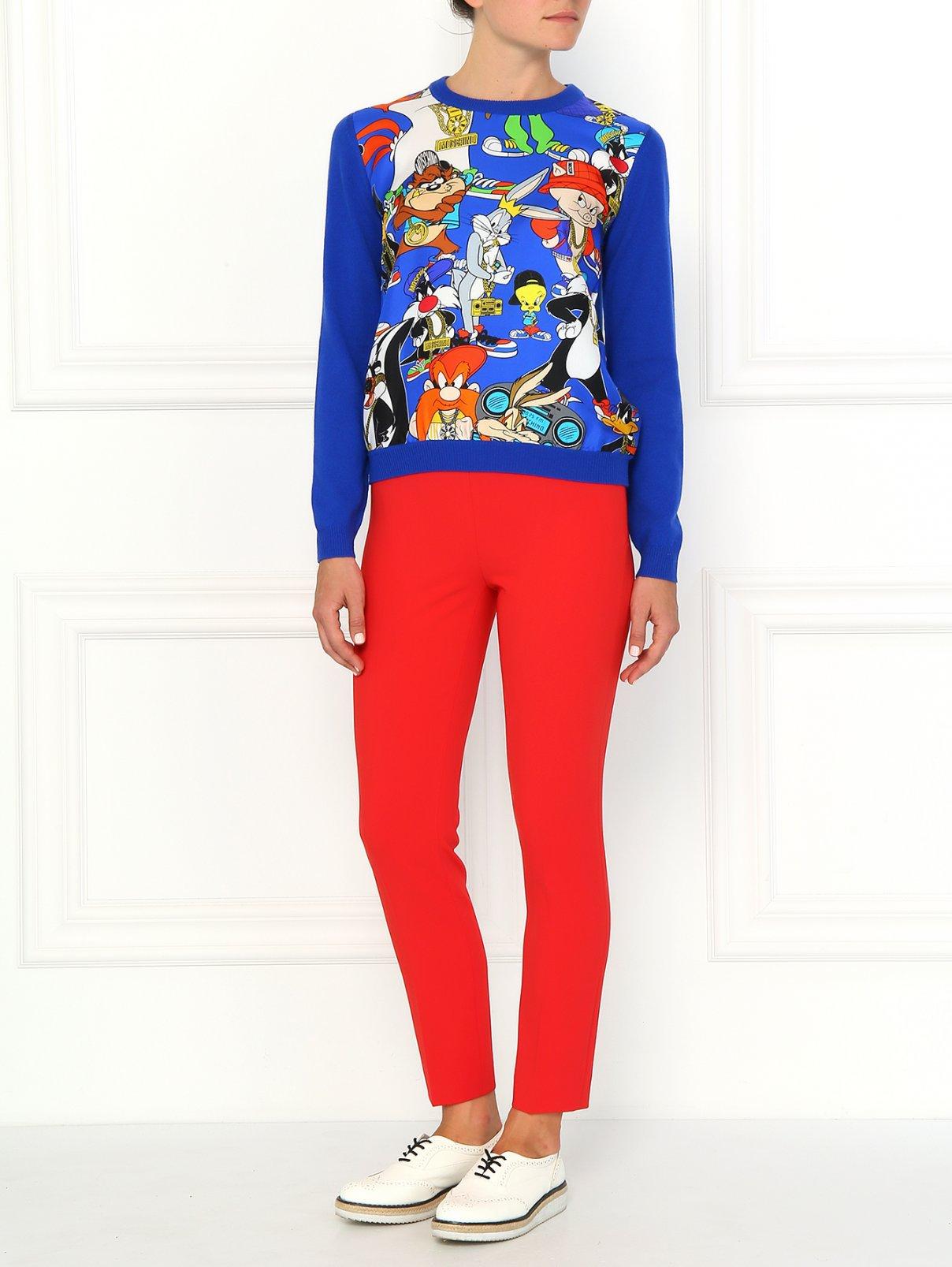 Зауженные брюки с высокой посадкой Moschino Couture  –  Модель Общий вид