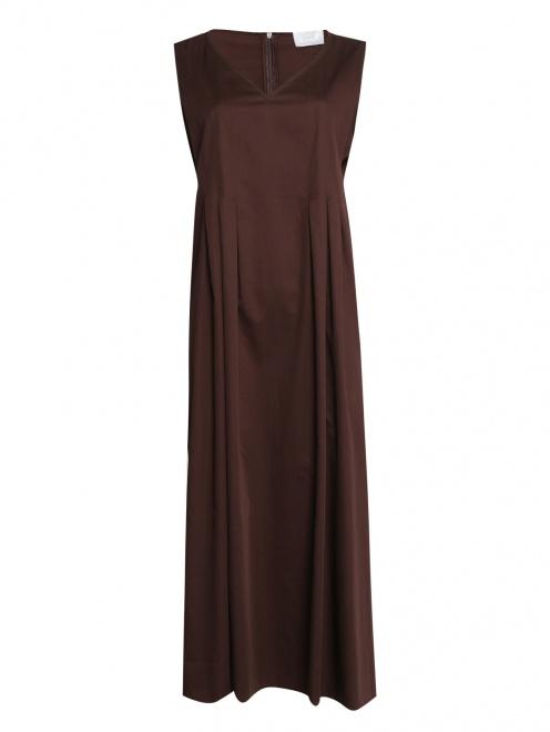 Платье из хлопка однотонное - Общий вид