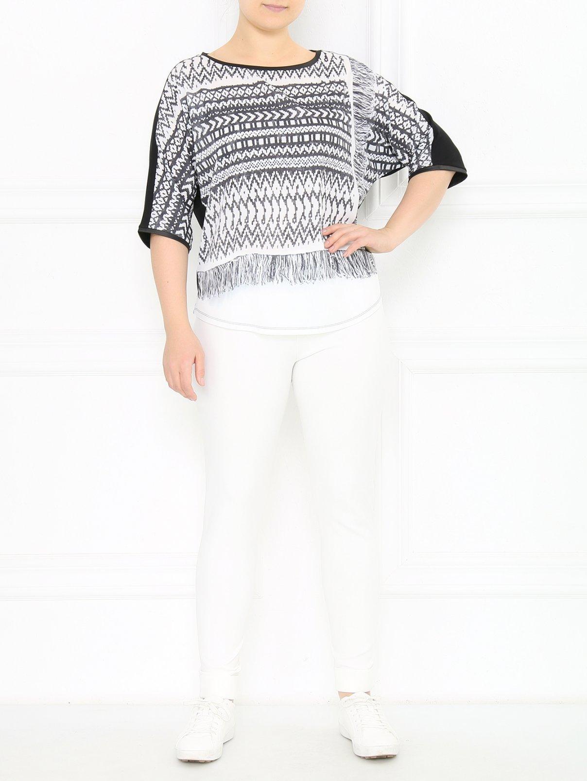 Трикотажные брюки прямого кроя Marina Sport  –  Модель Общий вид  – Цвет:  Белый