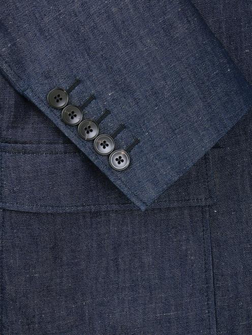 Пиджак однобортный из денима - Деталь2