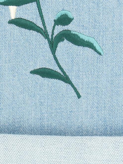 Джинсы прямого кроя с вышивкой - Деталь2