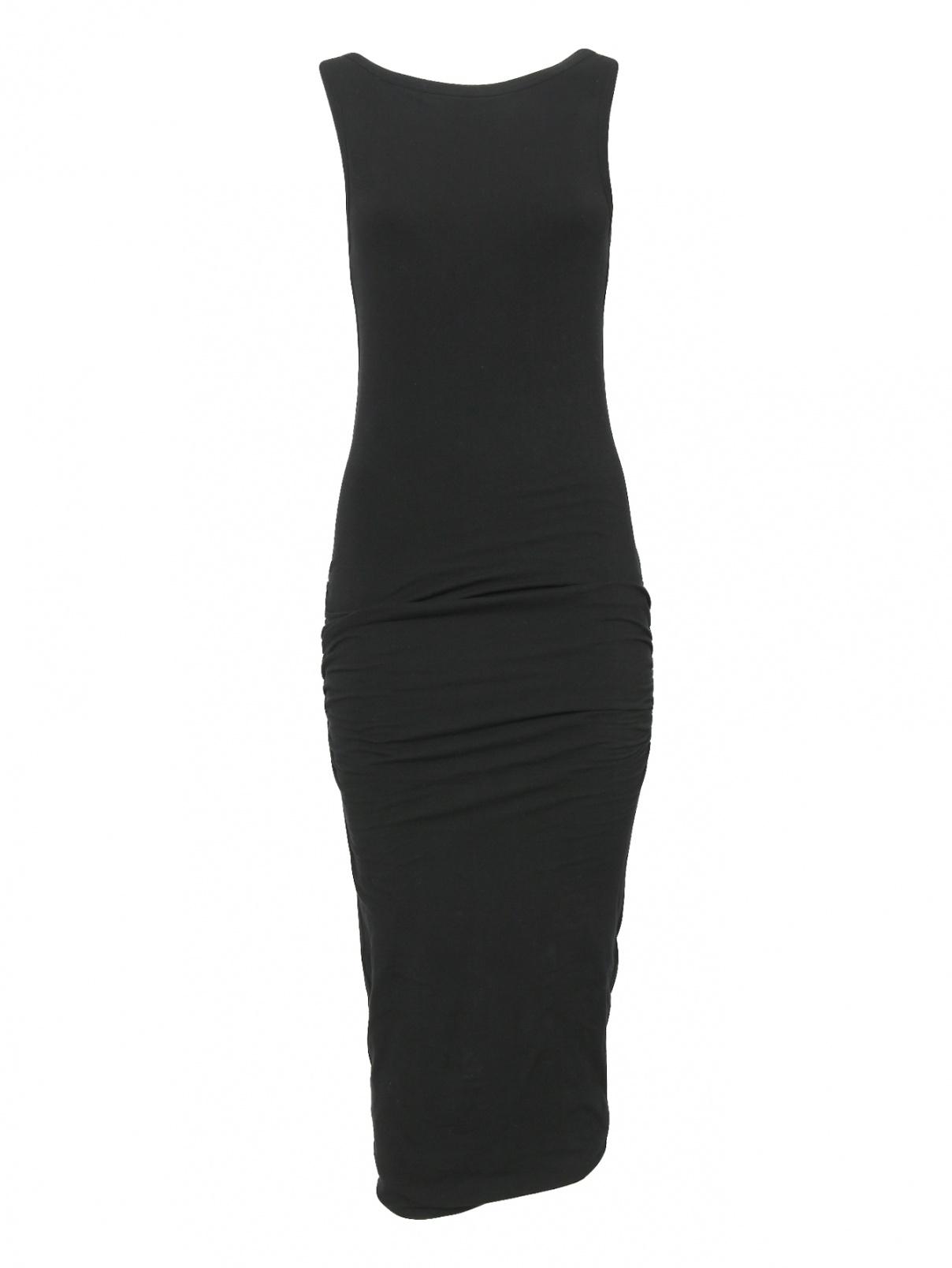 Трикотажное платье из хлопка без рукавов James Perse  –  Общий вид