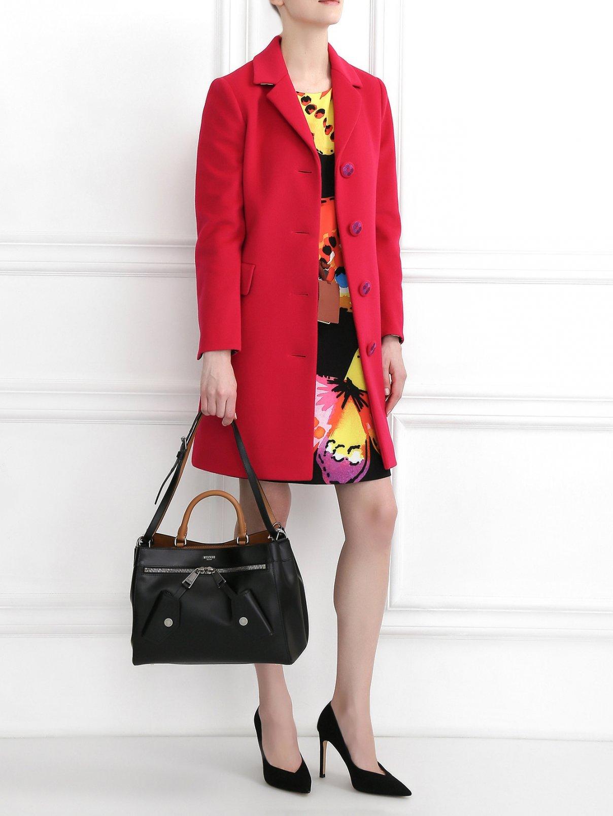 Сумка из гладкой кожи с декором Moschino Couture  –  Модель Общий вид