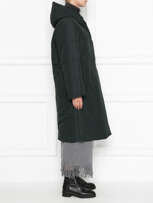 Пальто пуховое с капюшоном - МодельВерхНиз2