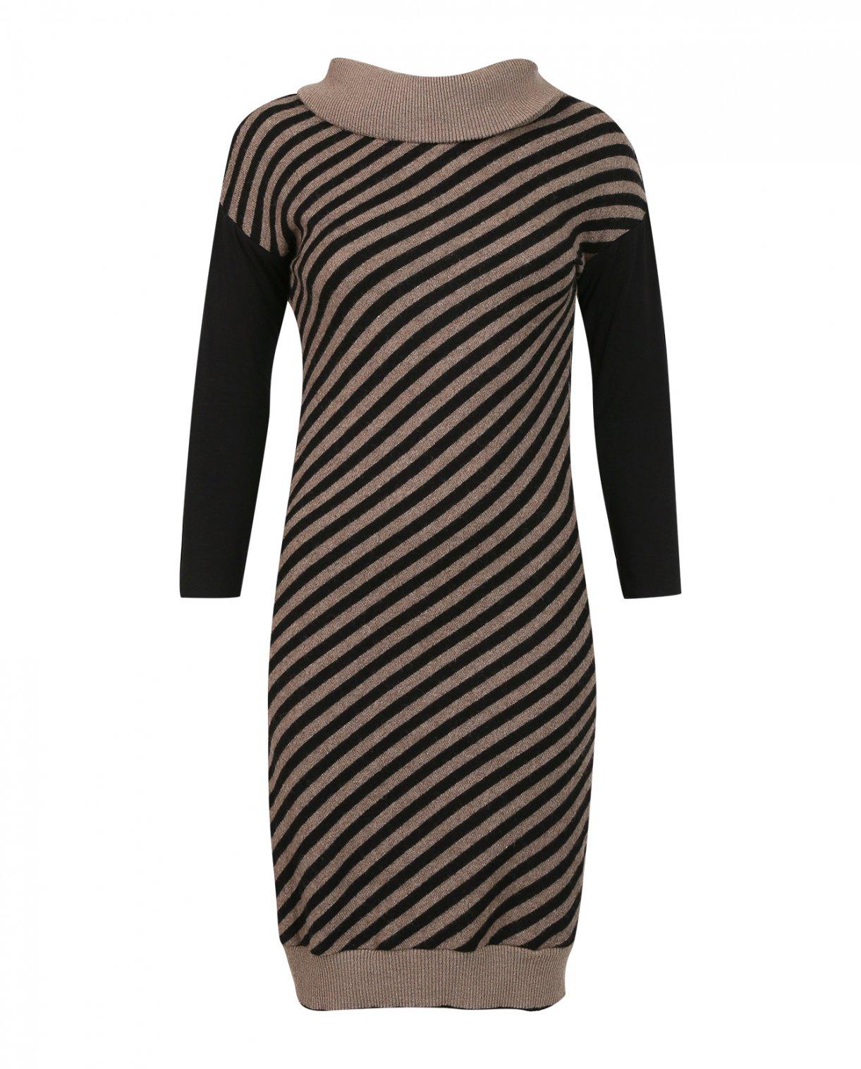 Платье-миди из шерсти в полоску NIŪ  –  Общий вид