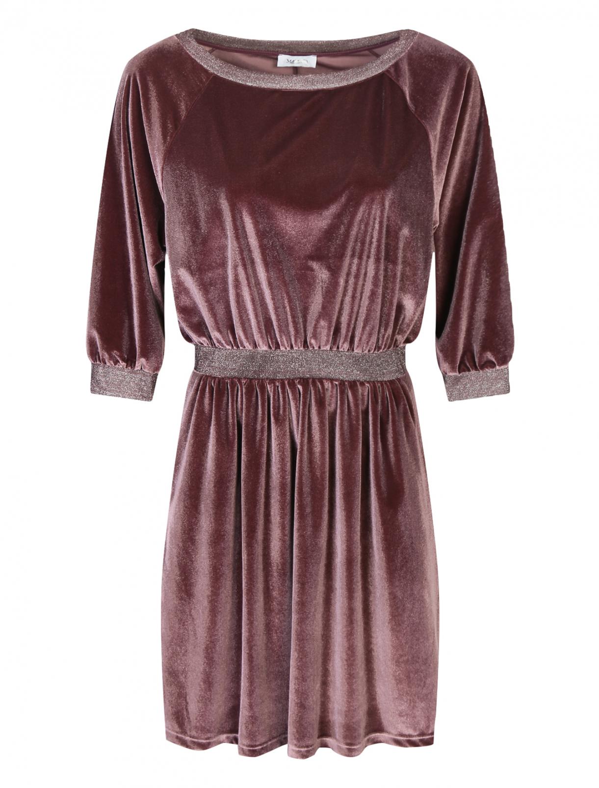 Бархатное платье с боковыми карманами Max&Co  –  Общий вид
