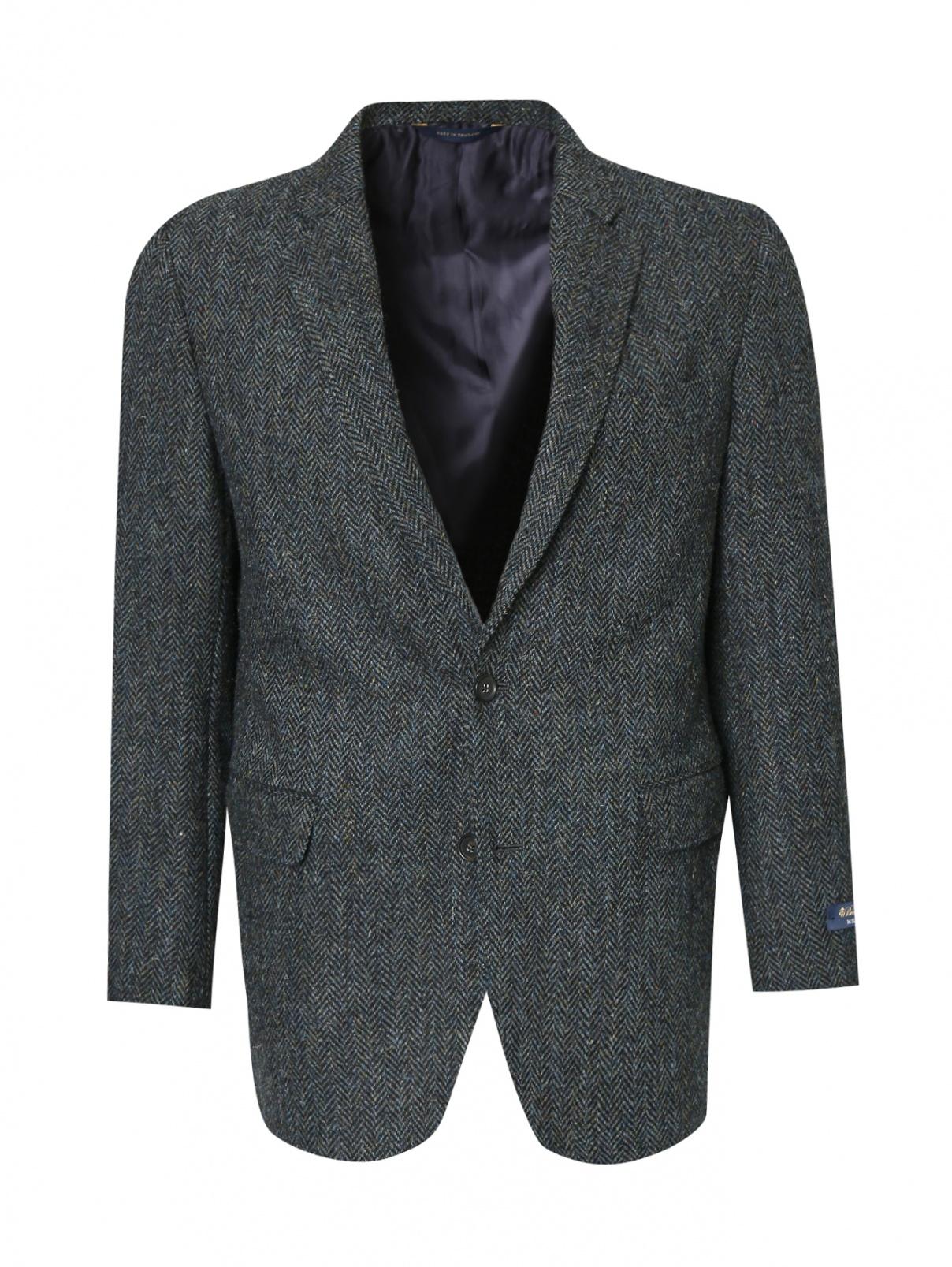 Пиджак однобортный из шерсти Brooks Brothers  –  Общий вид