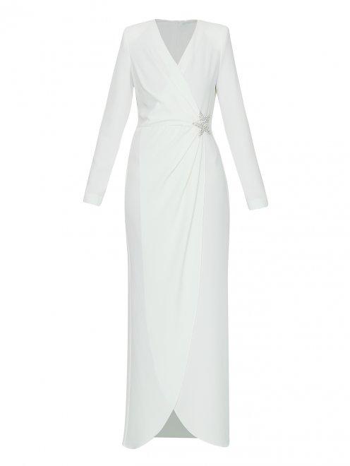 Платье макси с декором стразами - Общий вид