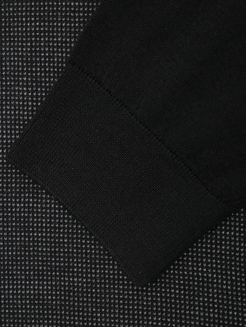 Джемпер с воротом поло из шерсти, шелка и кашемира - Деталь1