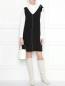 Платье прямого кроя, с контрастной строчкой Suncoo  –  МодельОбщийВид