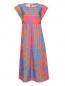 Платье-миди из хлопка с узором Marina Rinaldi  –  Общий вид