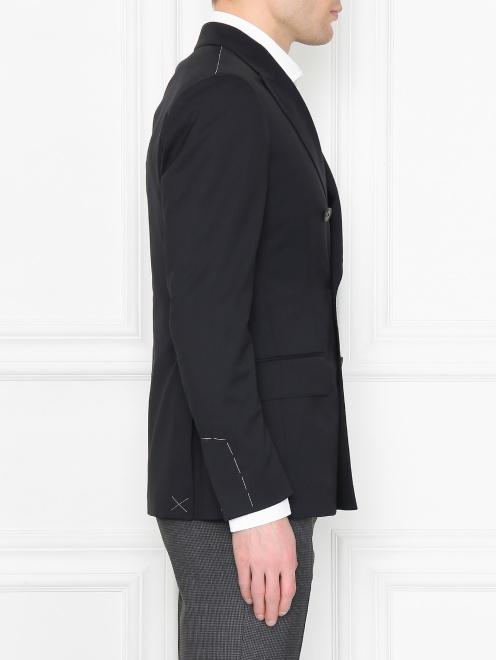 Пиджак двубортный из шерсти - МодельВерхНиз2