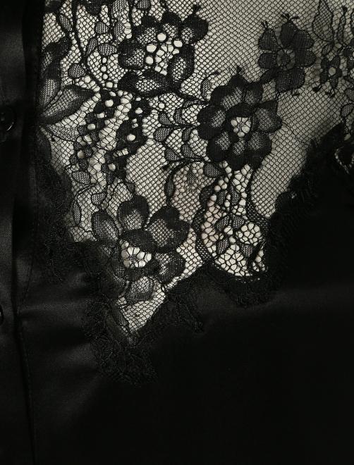 Блуза из шелка с кружевной отделкой - Деталь