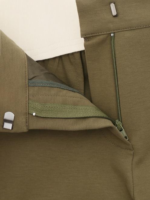 Зауженные брюки из хлопкового джерси - Деталь1