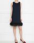 Платье из плотного трикотажа с декором из перьев Sportmax  –  МодельОбщийВид