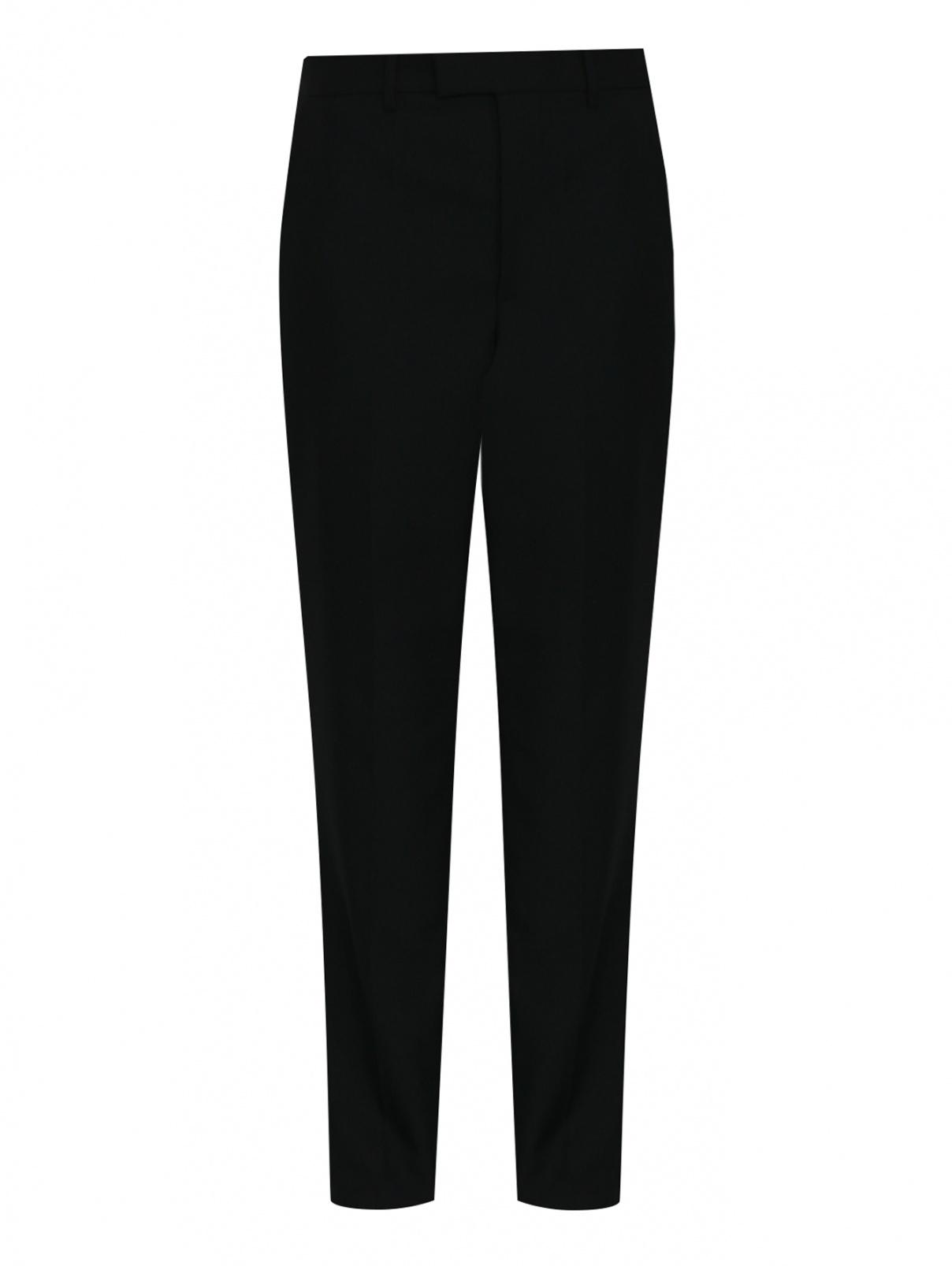 Брюки прямого кроя из смесовой шерсти Balenciaga  –  Общий вид  – Цвет:  Черный