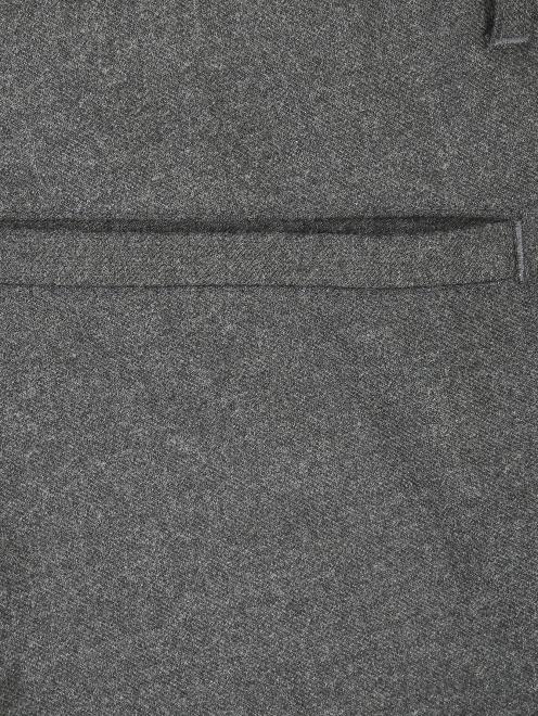 Брюки прямого кроя из шерсти со светоотражающим элементом - Деталь