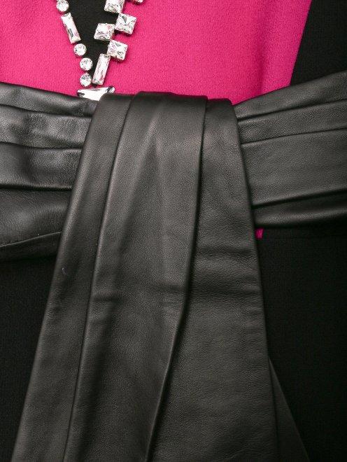 Платье-миди из шерсти с декоративной отделкой - Деталь1