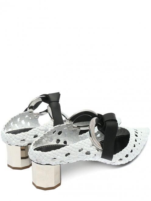 Туфли из плетеной кожи с металлической фурнитурой - Обтравка2