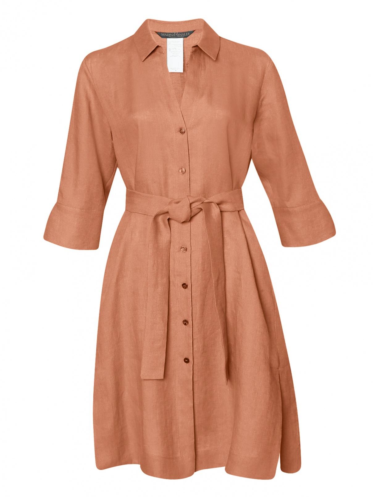 Платье из льна с рукавами 3/4 Marina Rinaldi  –  Общий вид