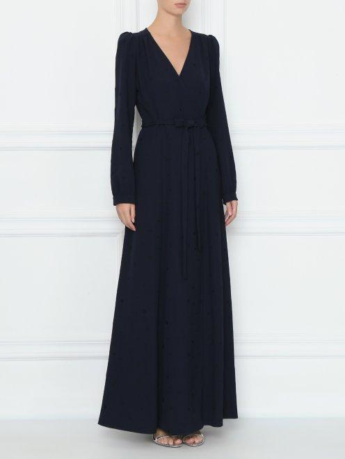 Платье на запах с узором звезды - МодельВерхНиз