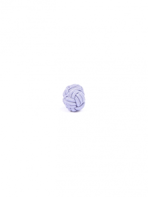 Запонки из текстиля в виде узелков - Обтравка2