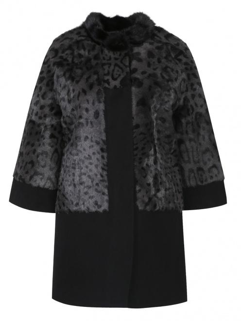 Пальто из меха козы с рукавами 3/4 - Общий вид