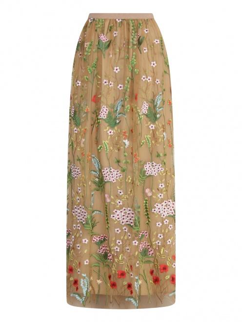 Юбка-макси с цветочным узором - Общий вид