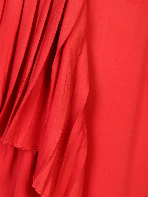 Платье шелковое, с воланами - Деталь1