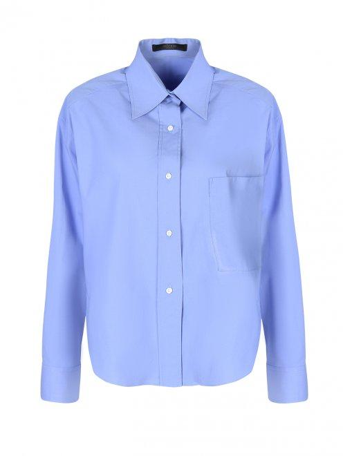 Рубашка из хлопка свободного силуэта - Общий вид