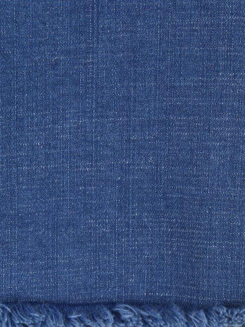 Расклешенные укороченные джинсы из эластичного денима - Деталь2