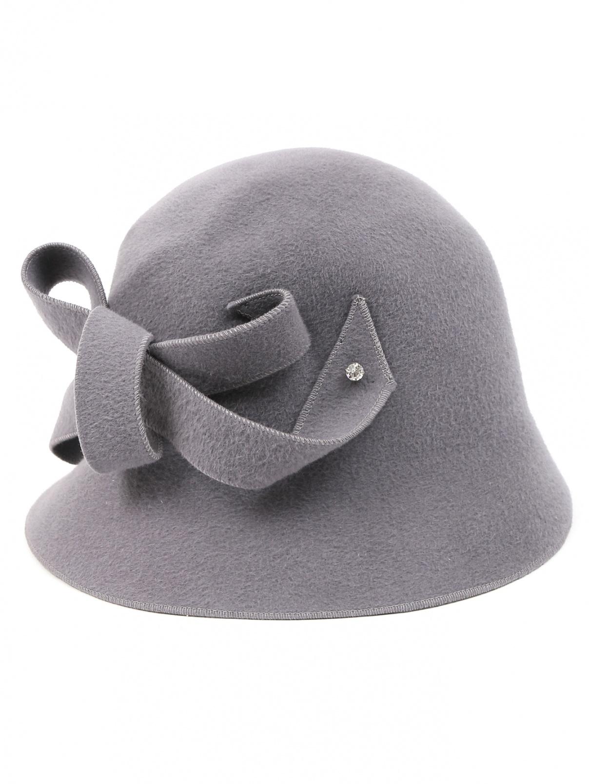 Шляпа из шерсти с декоративной отделкой Marni  –  Общий вид  – Цвет:  Серый