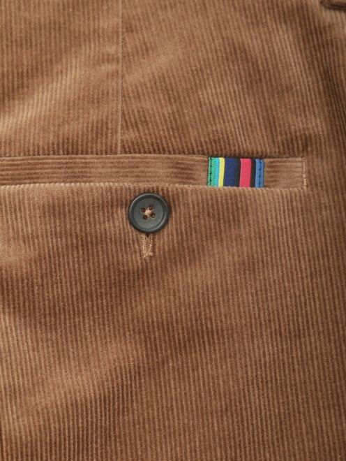 Вельветовые брюки из хлопка прямого кроя - Деталь