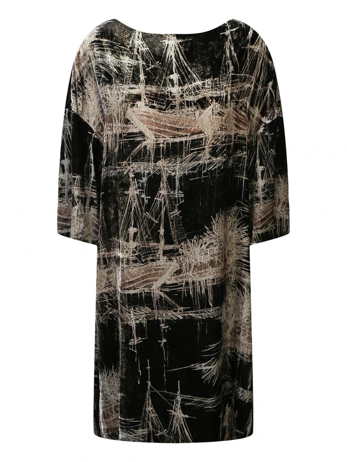 Бархатное платье свободного кроя с узором Antonio Marras  –  Общий вид