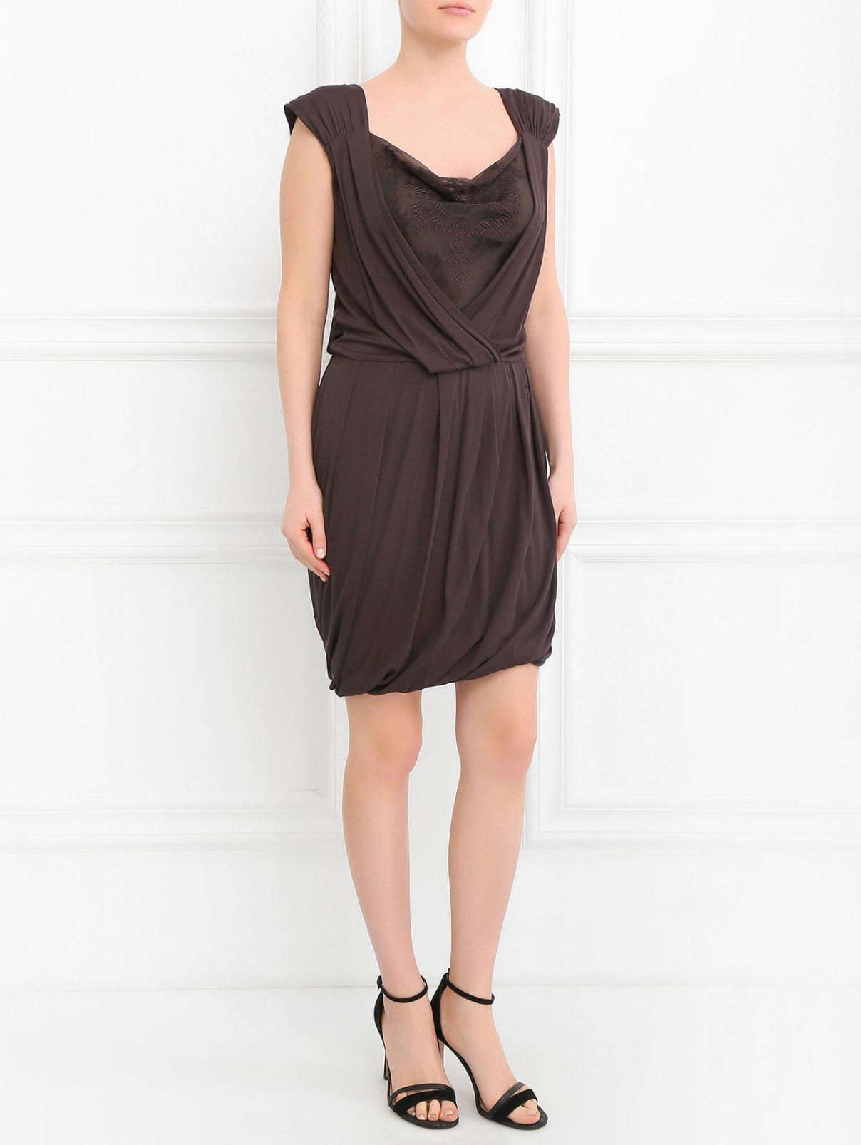 Платье из шерсти и шелка ICEBERG  –  Модель Общий вид  – Цвет:  Синий