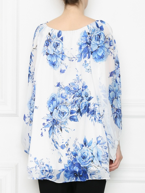 Блуза из вискозы с цветочным узором - МодельВерхНиз1