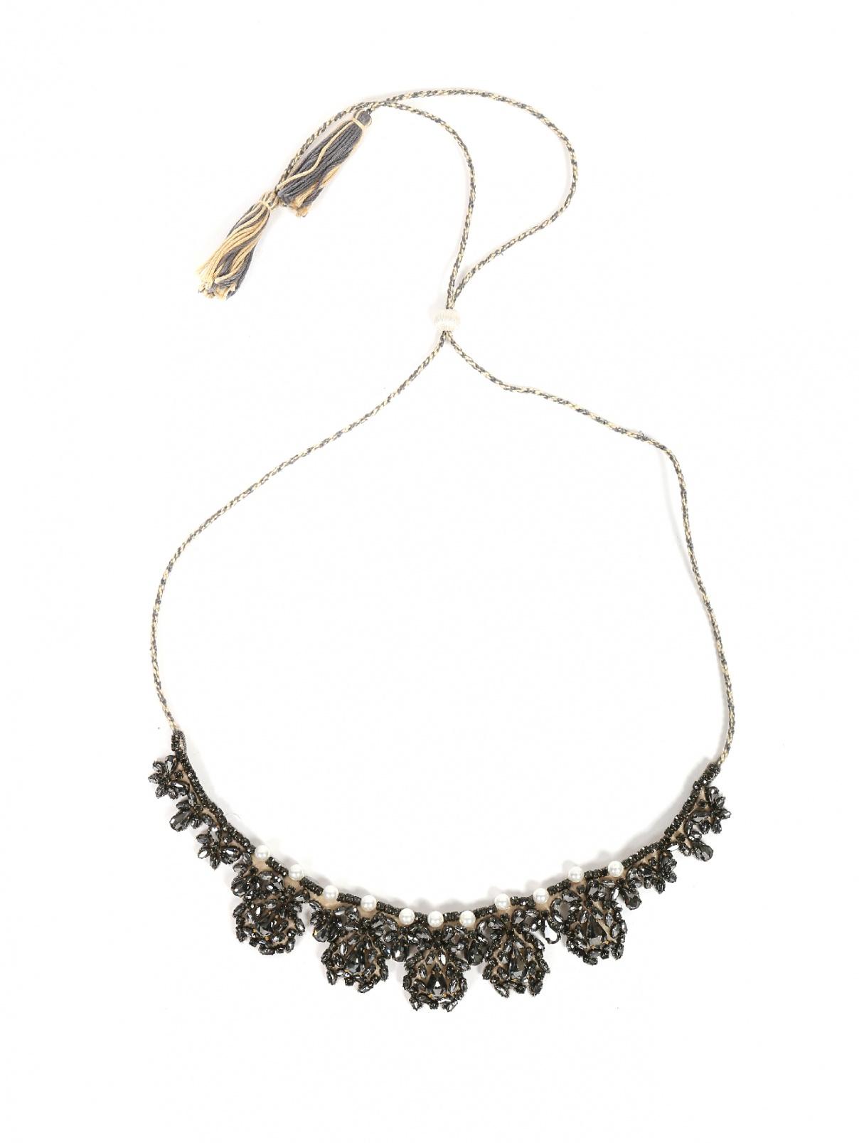 Ожерелье текстильное со стразами Etro  –  Общий вид  – Цвет:  Мультиколор