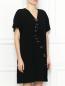 Платье свободного кроя с декоративной отделкой Moschino Boutique  –  МодельВерхНиз