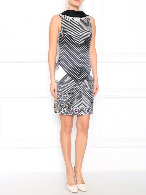 Платье с открытой спиной и узором - Общий вид