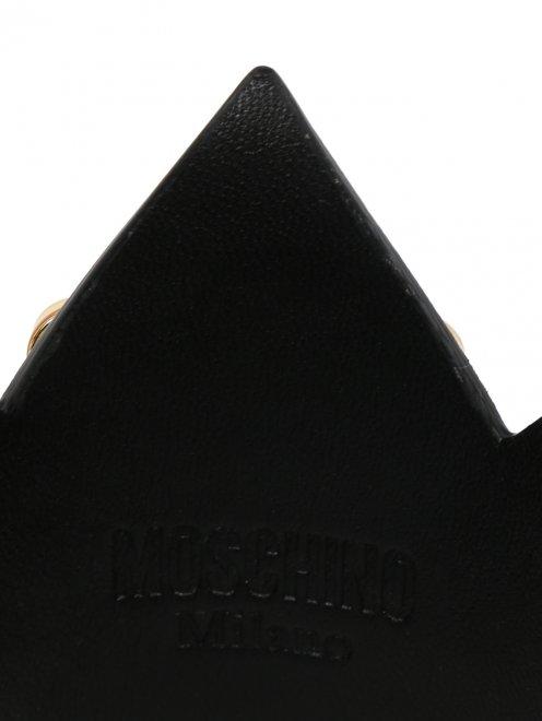 Корона из кожи с декоративной отделкой из металла - Деталь1