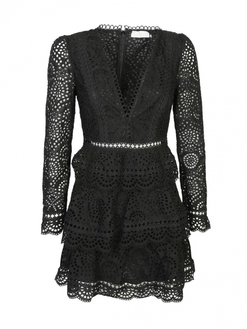 Платье кружевное, из хлопка - Общий вид