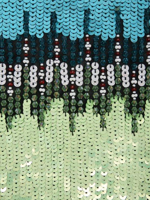 Юбка-карандаш декорированная пайетками - Деталь