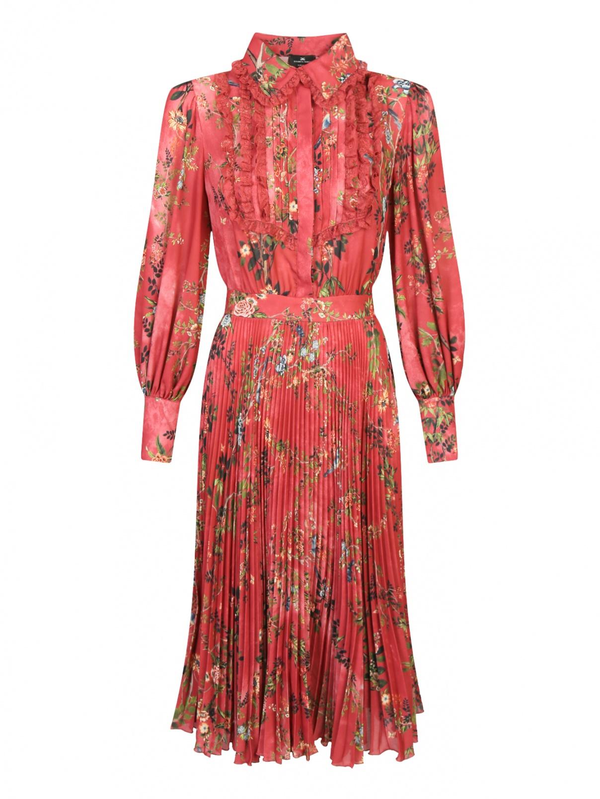 Платье с цветочным узором Elisabetta Franchi  –  Общий вид