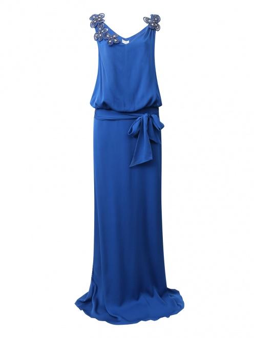 Платье-макси из шелка  - Общий вид