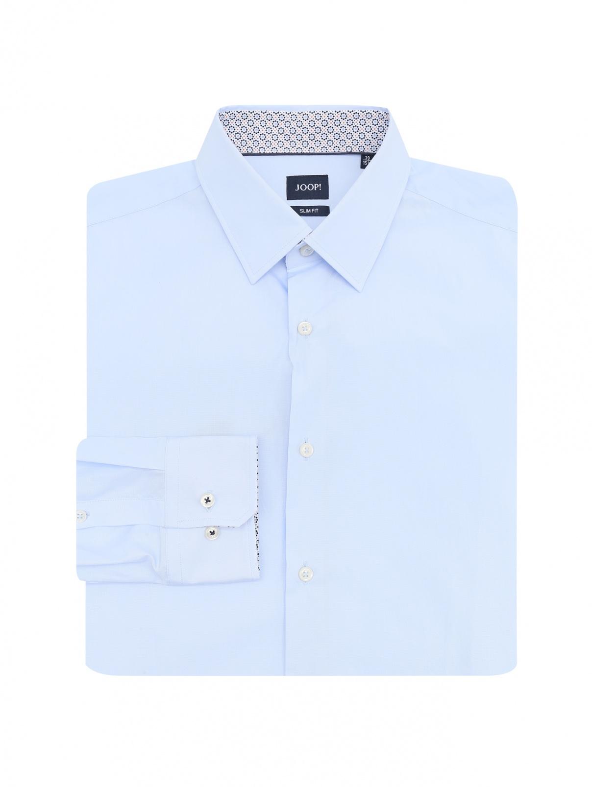 Рубашка из хлопка Joop  –  Общий вид  – Цвет:  Синий